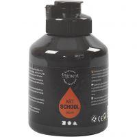 Pintura Pigment Art School, opaco, negro, 500 ml/ 1 botella