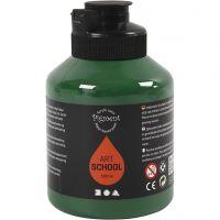 Pintura Pigment Art School, semi transparente, verde oscuro, 500 ml/ 1 botella