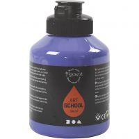 Pintura Pigment Art School, semi transparente, violeta azul, 500 ml/ 1 botella