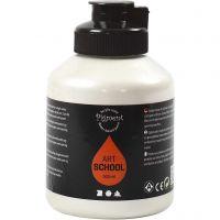 Pintura Pigment Art School, opaco, plata perlado, 500 ml/ 1 botella