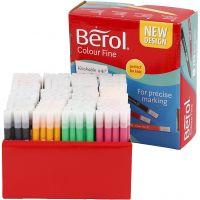 Berol Colourfine, trazo ancho 0,3-0,7 mm, surtido de colores, 288 ud/ 1 paquete