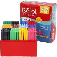 Marcador Berol, trazo ancho 1-1,7 mm, surtido de colores, 288 ud/ 1 paquete