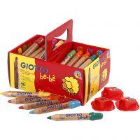 Lápices de colores, L. 10,5 cm, dia: 13 mm, mina 6 mm, surtido de colores, 36 ud/ 1 paquete