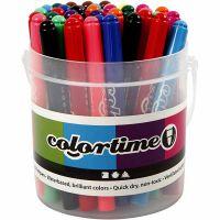 Colortime rotuladores, trazo ancho 5 mm, surtido de colores, 42 ud/ 1 paquete