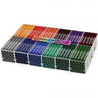 Colortime rotuladores, trazo ancho 5 mm, colores adicionales, 12x24 ud/ 1 paquete