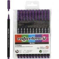 Colortime Fineliner , trazo ancho 0,6-0,7 mm, morado, 12 ud/ 1 paquete