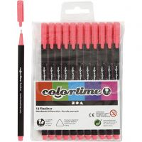 Colortime Fineliner , trazo ancho 0,6-0,7 mm, rosa, 12 ud/ 1 paquete