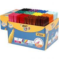 Rotuladores Visa Fine, trazo ancho 1,6 mm, surtido de colores, 12x24 ud/ 1 paquete