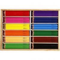 Colouring pencils, mina 5 mm, JUMBO, surtido de colores, 144 ud/ 1 paquete