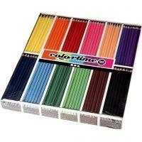 Lápices de colores Colortime, L. 17,45 cm, mina 3 mm, surtido de colores, 12x24 ud/ 1 paquete
