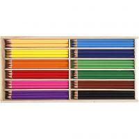 Lápices de colores, mina 3 mm, surtido de colores, 144 ud/ 1 paquete