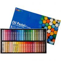 Mungyo Gallery Oil Pastel, L. 7 cm, grosor 11 mm, surtido de colores, 48 ud/ 1 paquete