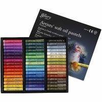Pasteles al Óleo Gallery Premium, L. 7 cm, grosor 10 mm, surtido de colores, 48 ud/ 1 paquete