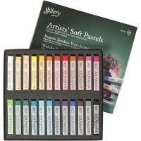Pasteles Gallery - Soft, L. 6,5 cm, grosor 10 mm, surtido de colores, 24 ud/ 1 paquete