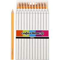 Lápices de colores Colortime, L. 17,45 cm, mina 5 mm, JUMBO, polvo claro, 12 ud/ 1 paquete