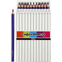 Lápices de colores Colortime, L. 17,45 cm, mina 5 mm, JUMBO, morado, 12 ud/ 1 paquete
