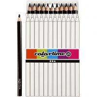 Lápices de colores Colortime, L. 17,45 cm, mina 5 mm, JUMBO, negro, 12 ud/ 1 paquete