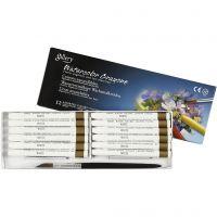 Crayones de acuarela, L. 9,3 cm, blanco (301), 12 ud/ 1 paquete
