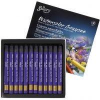 Crayones de acuarela, L. 9,3 cm, violeta (320), 12 ud/ 1 paquete