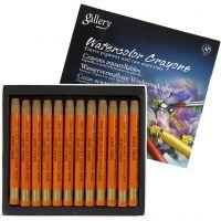 Crayones de acuarela, L. 9,3 cm, 12 ud/ 1 paquete