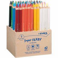 Super Ferby 1 lápices de colores, L. 18 cm, mina 6,25 mm, surtido de colores, 96 ud/ 1 paquete