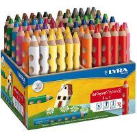 Lápices de colorear Groove Triple1 , L. 12 cm, mina 10 mm, surtido de colores, 72 ud/ 1 paquete