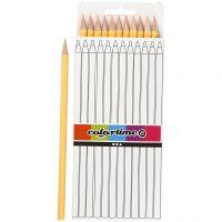 Lápices de colores Colortime, L. 17 cm, mina 3 mm, polvo claro, 12 ud/ 1 paquete