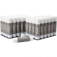 Pegamento de barra blanco, 48 ud/ 1 paquete, 10 gr