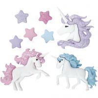 Botones, Unicornios mágicos, A: 9-32 mm, A: 9-35 mm, 3 ud/ 1 paquete