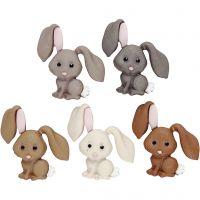 Botones, Conejos, A: 28 mm, 5 ud/ 1 paquete