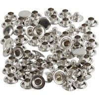 Remaches, dia: 7 mm, plata, 50 ud/ 1 paquete