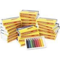 Ceras al oleo, surtido de colores, 25x9 ud/ 1 paquete