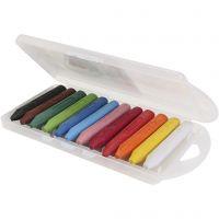 Crayones de cera PRIMO, L. 85 mm, surtido de colores, 12 ud/ 1 paquete