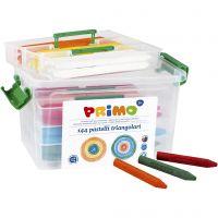 Crayones de cera PRIMO, surtido de colores, 12x12 ud/ 1 paquete