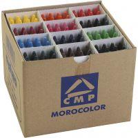 Crayones de cera PRIMO, surtido de colores, 24x12 ud/ 1 paquete