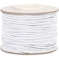 Cuerda elástica, grosor 1 mm, blanco, 25 m/ 1 rollo