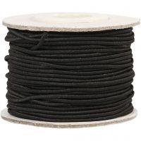 Cuerda elástica, grosor 1 mm, negro, 25 m/ 1 rollo