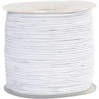 Cuerda elástica, grosor 1 mm, blanco, 250 m/ 1 rollo