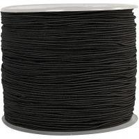Cuerda elástica, grosor 1 mm, negro, 250 m/ 1 rollo