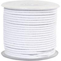 Cuerda elástica, grosor 2 mm, blanco, 25 m/ 1 rollo