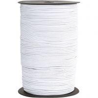 Cuerda elástica, grosor 2 mm, blanco, 250 m/ 1 rollo