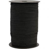 Cuerda elástica, grosor 2 mm, negro, 250 m/ 1 rollo
