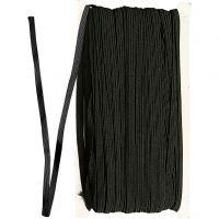Cuerda elástica, A: 6 mm, negro, 50 m/ 1 rollo