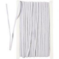 Cuerda elástica, A: 6 mm, blanco, 50 m/ 1 rollo