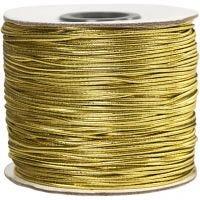 Cordón elástico, grosor 1 mm, dorado, 100 m/ 1 rollo