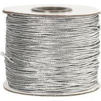 Cordón elástico, grosor 1 mm, plata, 100 m/ 1 rollo
