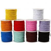 Cordón elástico - Surtido, grosor 1 mm, 10x25 m/ 1 paquete