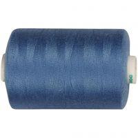 Hilo de coser, azul-medio, 1000 m/ 1 rollo
