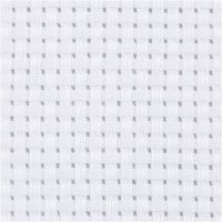 Tela Aida, A: 150 cm, 35 cuadrados por 10 cm , blanco, 3 m/ 1 ud