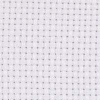 Tela Aida, medidas 50x50 cm, 43 cuadrados por 10 cm , blanco, 1 ud